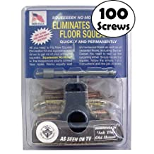 O'Berry Squeak No More Kit - Stops Floor Squeaks From Above the Floor - With Additional 50 bonus Screws (100 Total)