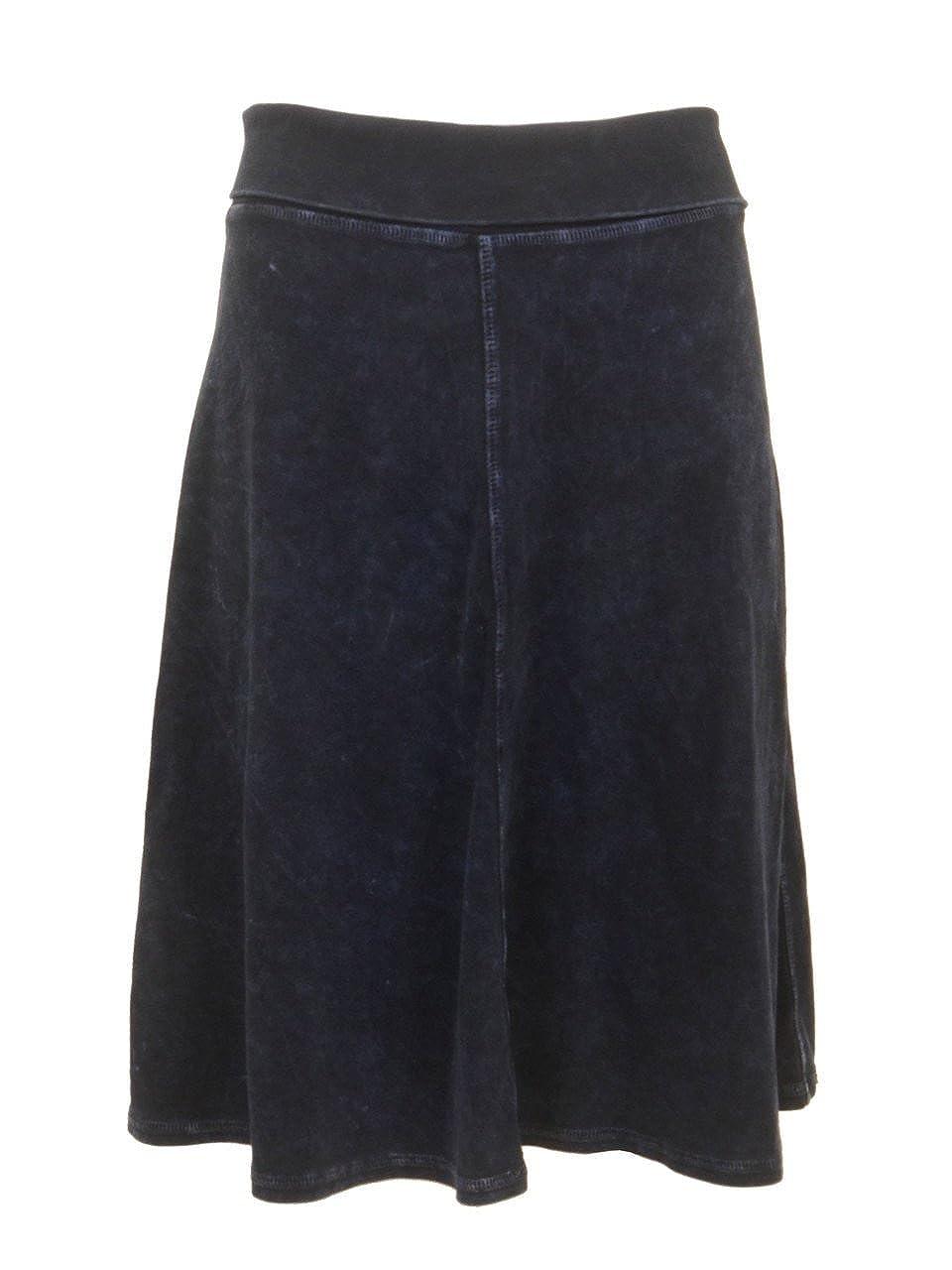 Dark Denim Hard Tail Rolldown Aline Skirt B126