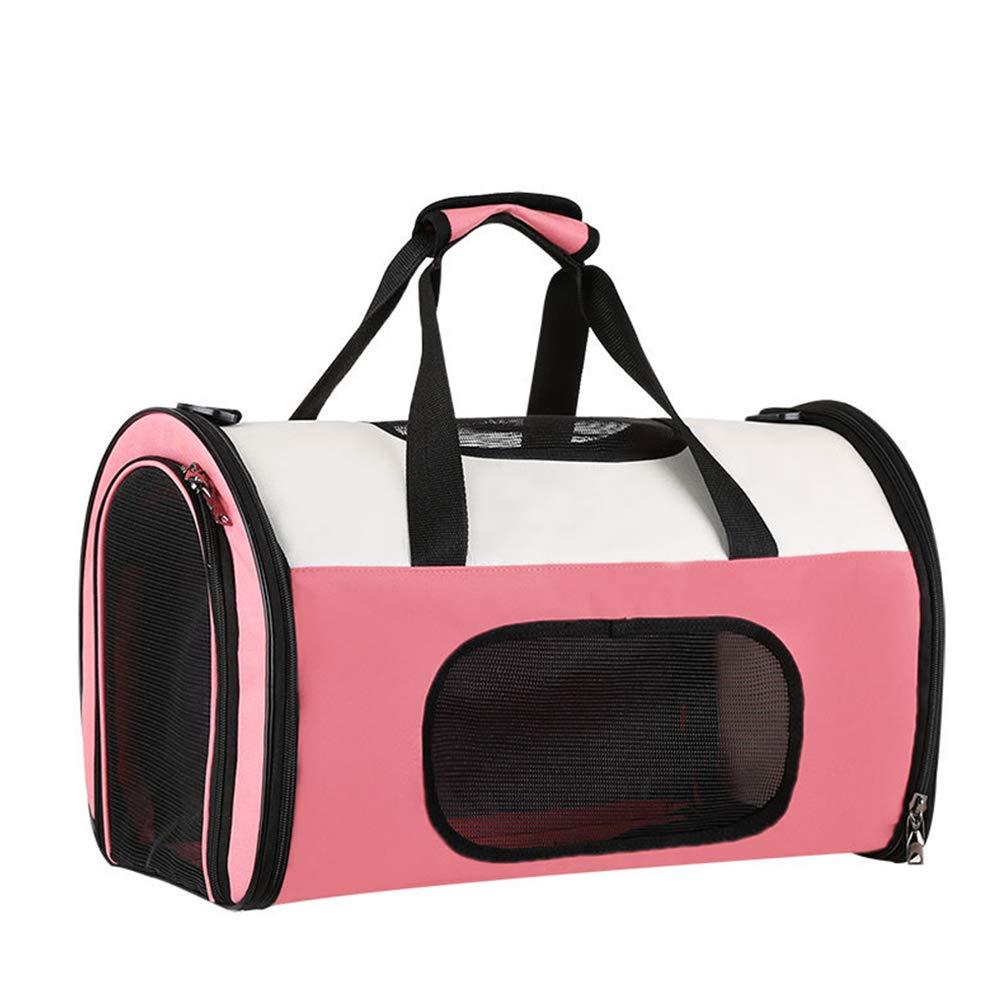 Pink S Pink S XDYFF Pet Carrier Padded Soft Sided One-shoulder portable cat bag, space pet cabin bag, portable two-shoulder dog bag for Medium Dogs Cats Travel Bag