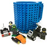 Fashion Electronics Taza con bloques de construcción de diferentes colores (incluye al azar 1 personaje o 1 carrito o bloques
