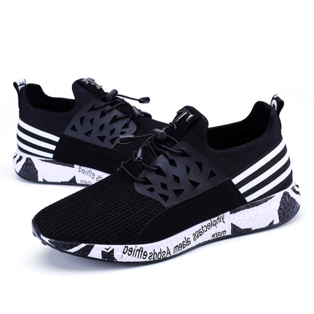 Hasag Große Leichte Größen-Mann-Turnschuhe-Bequeme Weiche Laufende gehende Schuhe Leichte Große Leichtathletik-Schuhe Rutschfest,schwarz,7 - b0a4a8