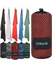 Mave Athletic Premium XXL ręcznik z mikrofibry z torbą [200 cm x 90 cm] – ultralekki szybkoschnący ręcznik – idealny na następną wycieczkę na plażę, ognista czerwień, 50 x 30 cm