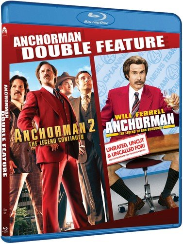 Blu-ray : Anchorman Double Feature (Widescreen, Amaray Case, AC-3, Digital Theater System, Dolby)