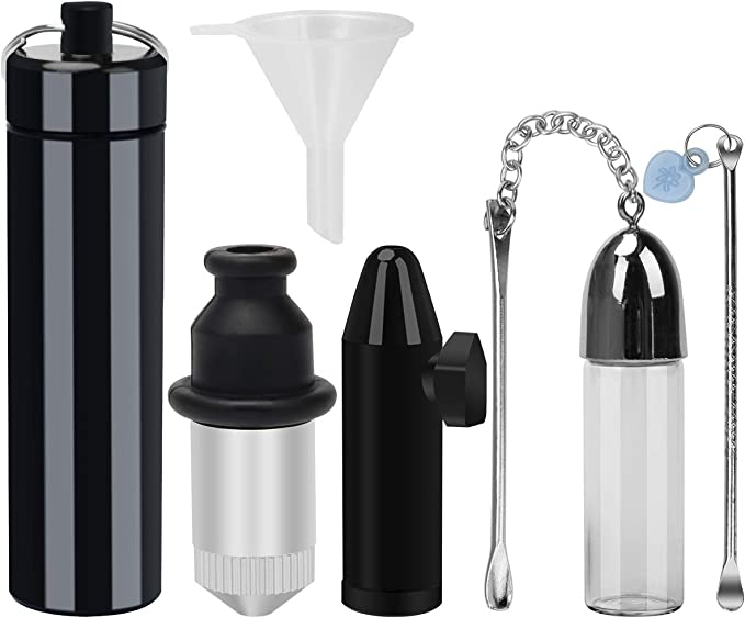 Amazon.com: Snuff Bullet Kit - Metal Sealed Snuff Storage, Snuff Bottle with Spoon, Snorter Glass Snuff Vial and Snorter Alloy Snuff Bullet with Small Funnel(6Pack): Home Improvement