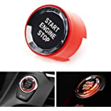 iJDMTOY (1) Crystal Diamond Reflective Engine Push Start Button w/Red Trim Compatible with BMW F/G Chassis Code 2 3 4 5 7 Ser