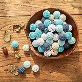 Promise Babe 16mm 40pc Crochet Beads Blue Series