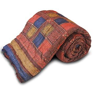 Buy Little India Jaipuri Style Bagru Cotton Single Bed Quilt ... : quilt india - Adamdwight.com