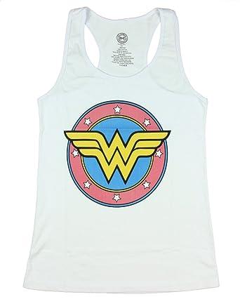 c635482c51189 Amazon.com  Wonder Women Logo Womens Tank Top  Clothing