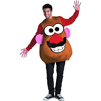Amazon.com Toy Story Mr. or Mrs. Potato Head Deluxe Halloween Costume - Adult Size X-Large 42-46 Clothing  sc 1 st  Amazon.com & Disguise - Adult Mr. or Mrs. Potato Head Costume