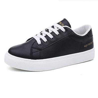 Amazon.com | Feilongzaitianba Women Shoes White Sapatilha Women Casual Shoes Flat Zapatillas Mujer Casual | Flats