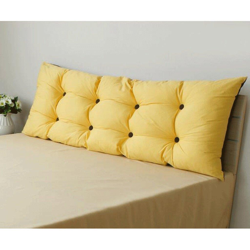 洗濯することができ、木製のベッドクッション大きな枕なしベッドソフトベッドバックパッドベッドサイドピロー二色 (サイズ さいず : 180 * 55cm) 180*55cm  B07FCX8QR2