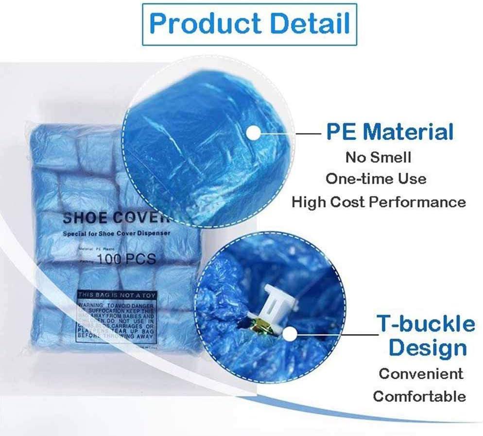 Blu XFY Copriscarpe monouso per Automatico Copriscarpa Dispenser con 300Pc Monouso Plastica Avvio Copriscarpe