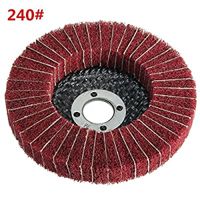 100mm 240 Grit Nylon Fiber Wheel Abrasive Polishing Buffing Disc