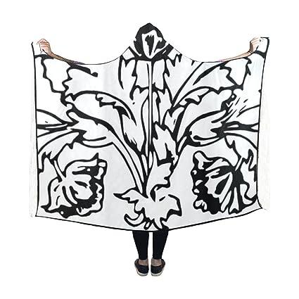 amazon lianbaoss hooded blanket decoration flower vase leaf Wrap House lianbaoss hooded blanket decoration flower vase leaf leaves vine motif blanket 60x50 inch fotable hooded throw