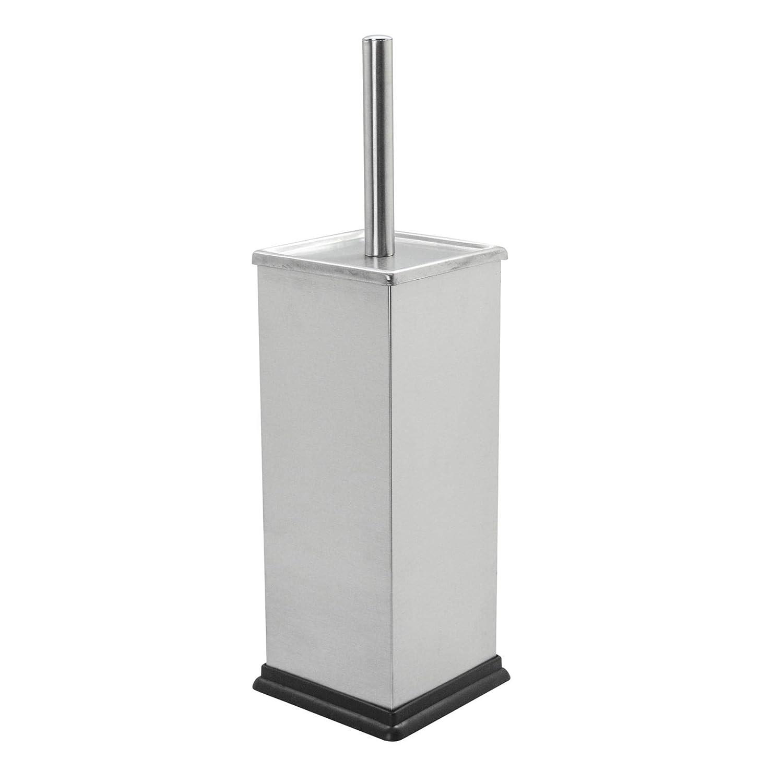 Brushed Metal Harbor Housewares Acciaio Quadrato Bagno Pedal Bin /& Scopino Set