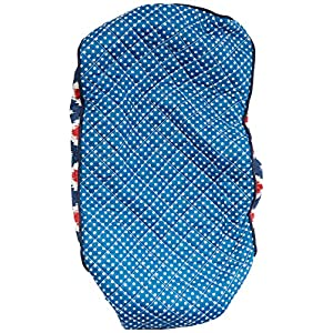 Bacati Mix and Match Pin Dots Changing Pad Cover, Orange/Navy/Red