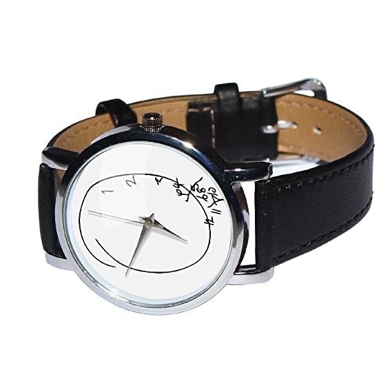 Amazon.com: Scrambled Time Design Watch. Jumbled Numbers, Shows Numbers Falling Off. Genuine Leather Strap: Watches