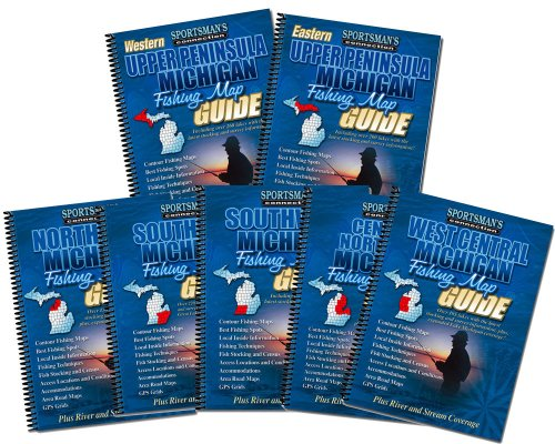 Michigan Fishing Map Book Guides Set
