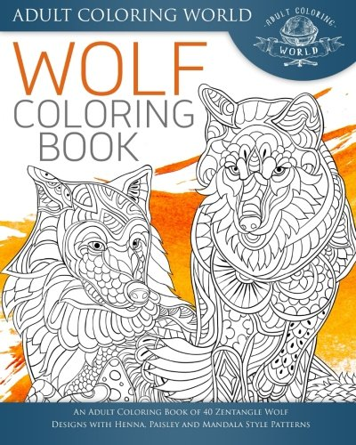 Wolf Coloring Book Zentangle Patterns product image