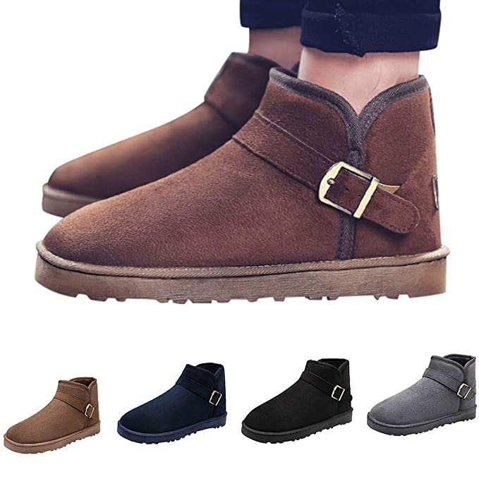 Botas de Nieve para Hombre,ZARLLE Zapatos para hombre Botas calientes de invierno para hombres Zapatos casuales Botas de nieve de moda de felpa: Amazon.es: ...
