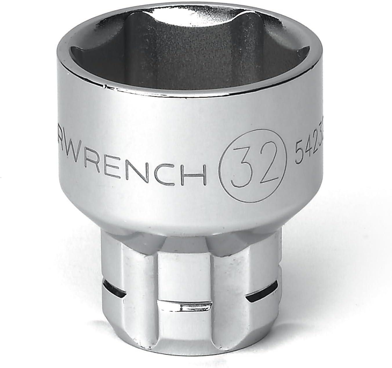 "Gearwrench 891200 1//2/"" drive 30mm Pass Thru Ratcheting Socket"