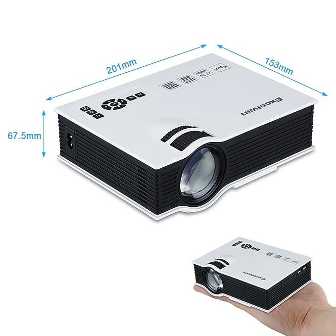 Excelvan UC40 - HD Mini LED Proyector Portátil Multimedia Cine ...
