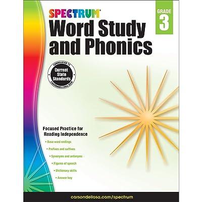 Carson-Dellosa Spectrum Word Study and Phonics Workbook, Grade 3: Toys & Games