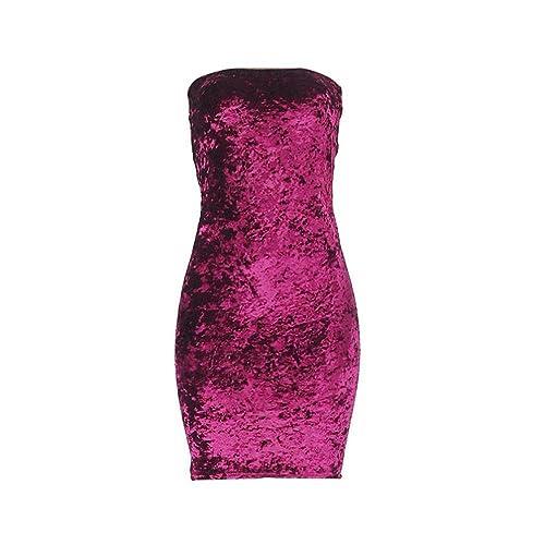 FTXJ Women Tube Top Dress, Sex...