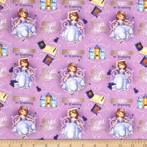 Disney Princess Sofia Princess in Training Purple Fabric By The (Disney Princesses In Order)