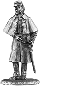 Ronin Miniatures Federal Cavalry Officer American Civil War UnPainted Tin Metal Collection Toy Soldier Size 1/32 Scale 54mm for Home Collectible Figurines Item #Us-07