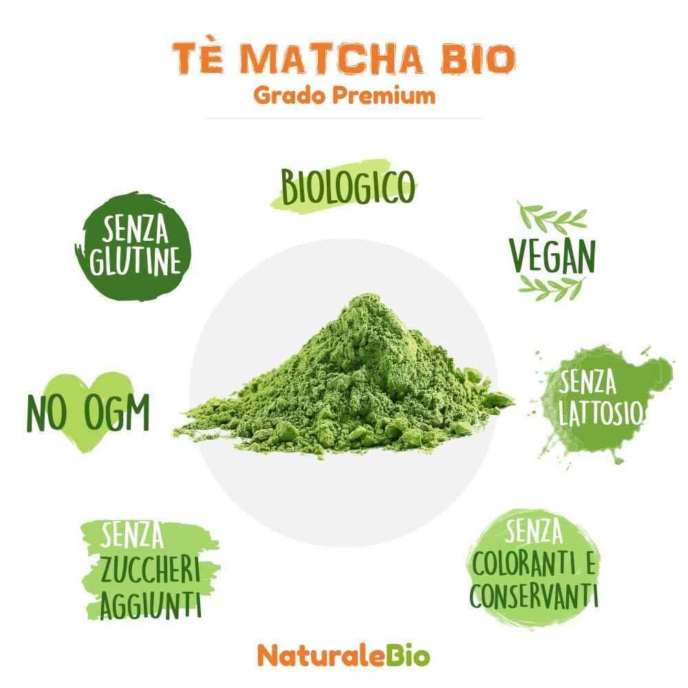 Té Verde Matcha Orgánico Japonés En Polvo [ Calidad Premium ] 50g | Matcha Biológico Cultivado En Japón, Uji, Kyoto. Té Bio Grado Premium.