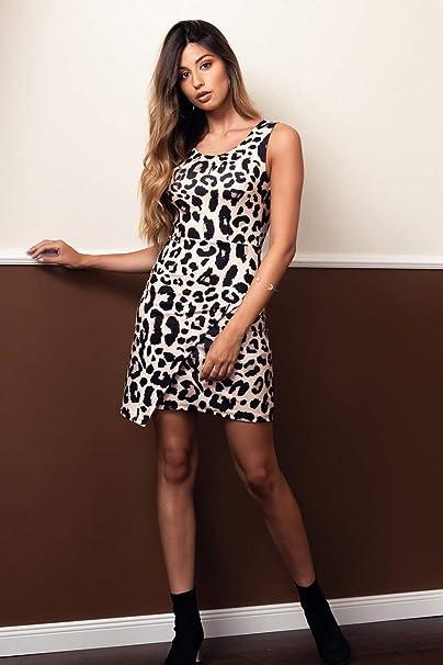 Vestido Corto Animal Print Leopardo Unica