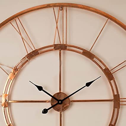 Craftter Handmade Medium Copper Wall Clock Metal Wall Art Sculpture Wall  Decor And Hanging (55