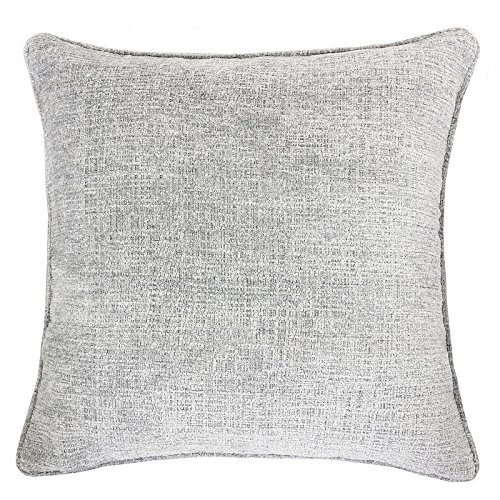 Homey Cozy Chenille Textured Throw Pillow Cover,Heavy Chenille Series Silver Large Sofa Couch Decorative Pillow Case Modern Western Home Decor 20x20, Cover Only