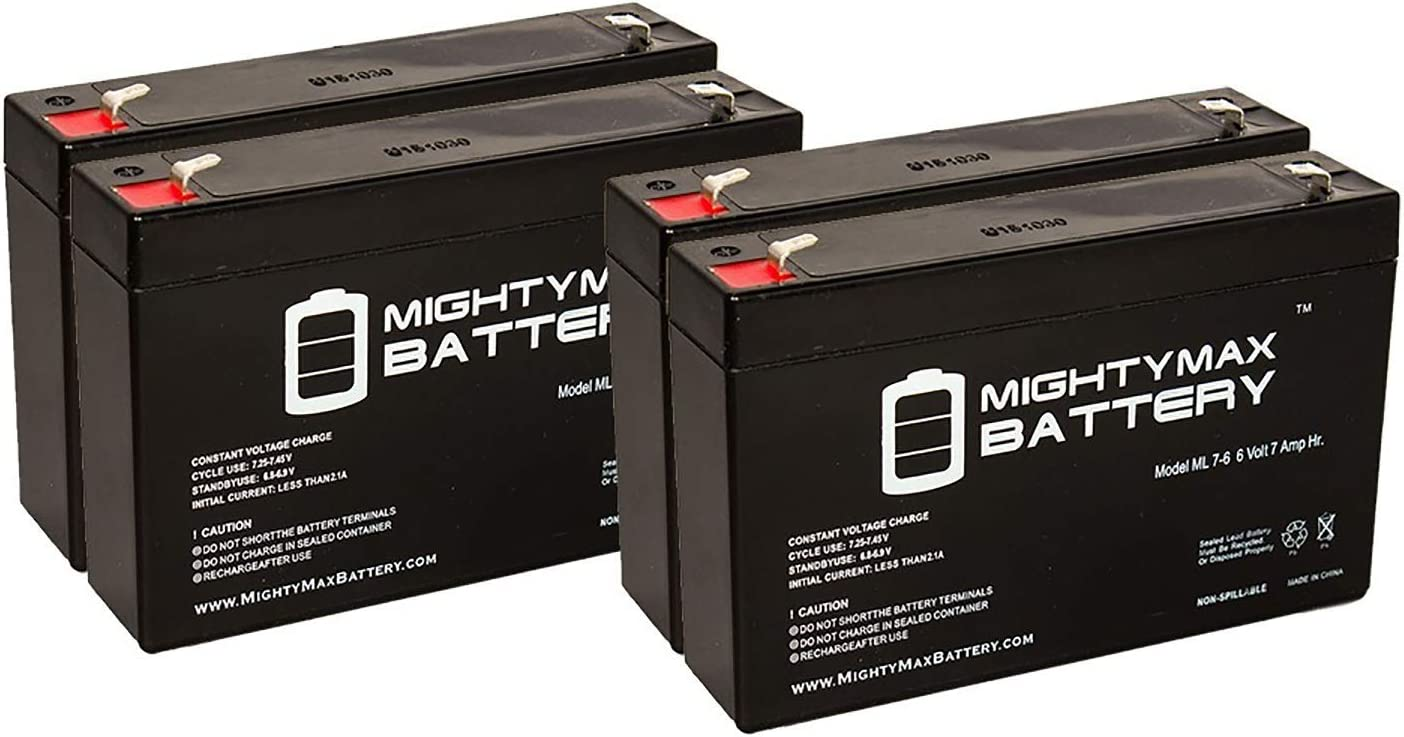 Mighty Max Battery 6V 7Ah SLA Battery Replacement for Grainger 16U265-4 Pack Brand Product