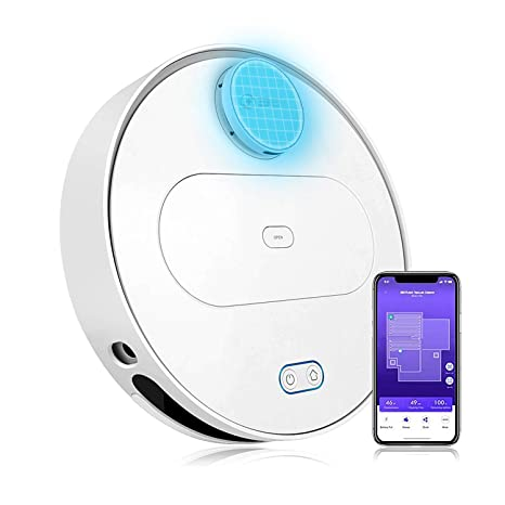 360 Robot Vacuum and Mop Cleaner, Works with Alexa, Intelligent Cleaning on world map, drinking map, electricity map, concrete map, recycling map, el segundo map,
