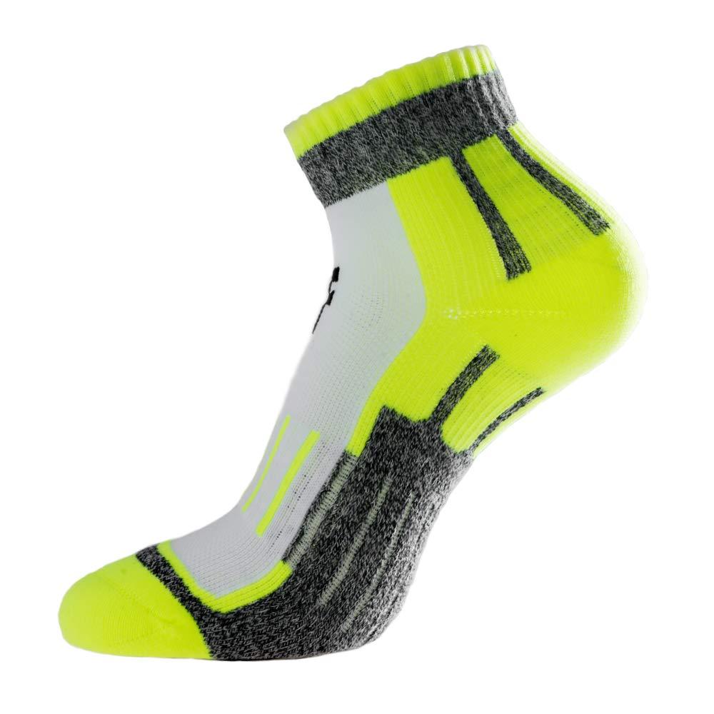 protecci/ón en la Parte Inferior y el Arco Calcetines de Running para Deportes al Aire Libre 2019 Verde Naranja Morado LUCKY Coolmax