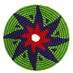 The Pocket Disc is a 100% Cotton, Handmade, colorful disc that is perfect for spontaneous play indoors or out. Great for camping, tailgaiting, at the pool/beach... tuck it in your pocket and you are set! Pick up a Pocket Disc and it is pretty...