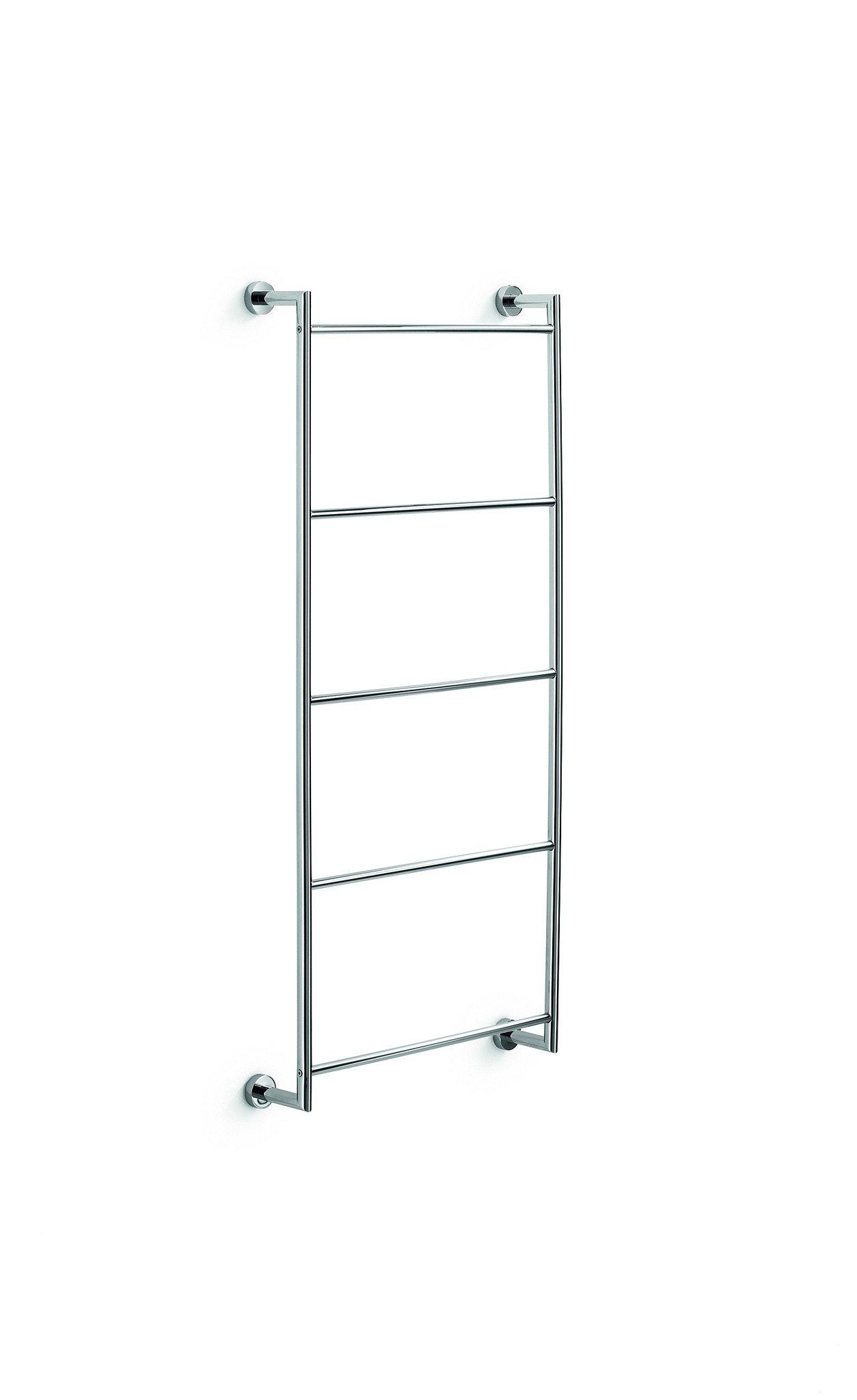 LB Baketo Wall Brass Towel Rack Ladder for Bathroom Spa Towel Hanger Chrome