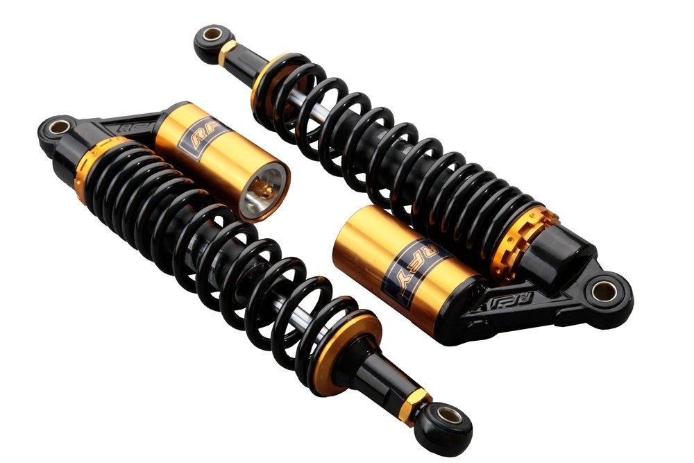 GZYF - Paire d' amortisseurs pour moto - 375 mm - Doré s 45YF012