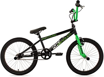 "BMX Freestyle 20/"" 4 Pegs BMX Rad Circles Kinderrad 360 Rotor Schwarz-Grün 566B"