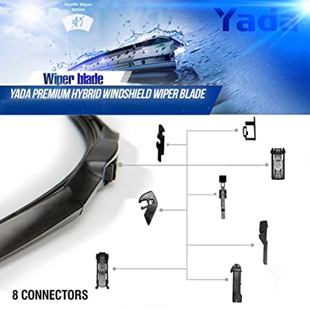 Amazon.com: Yada 16 inches 8-in-1 Water Repellency Wiper Blades, 16