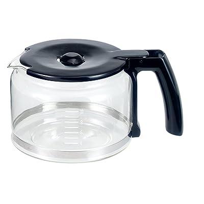 Beem Germany d2000654Verseuse en verre avec couvercle pour de Fresh Aroma Perfect V2, Machine à Café avec Broyeur