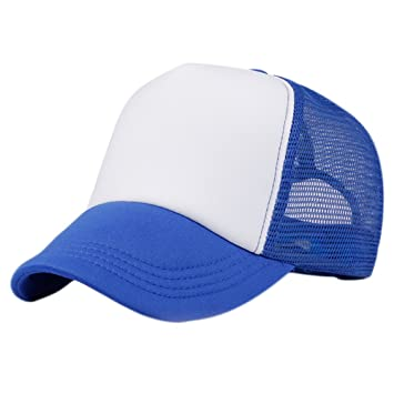 Chytaii Sombrero Gorro Visera Gorras de Béisbol Transpirable Sombrero Casual Gorra de Malla Visera Unisex Tamaño Ajustable (Azul): Amazon.es: Deportes y ...