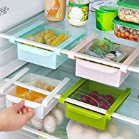 Yunhigh yerden tasarruf buzdolabı saklama kabı buzdolabı çekmece Organizer plastik buzdolabı raf tutucu sepet raf Organisation