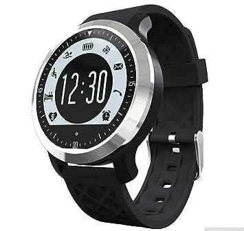 Deportes inteligente reloj inteligente recordatorio puede nadar impermeable deportes reloj elegante desgaste negro elegante pulsera , black: Amazon.es: ...