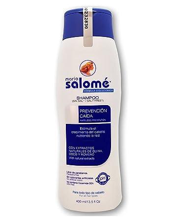 Amazon.com : Shampoo Maria Salomé 400ml - Anticaída y estimula el Crecimiento. Sin Sal, Sin Parabenos : Beauty