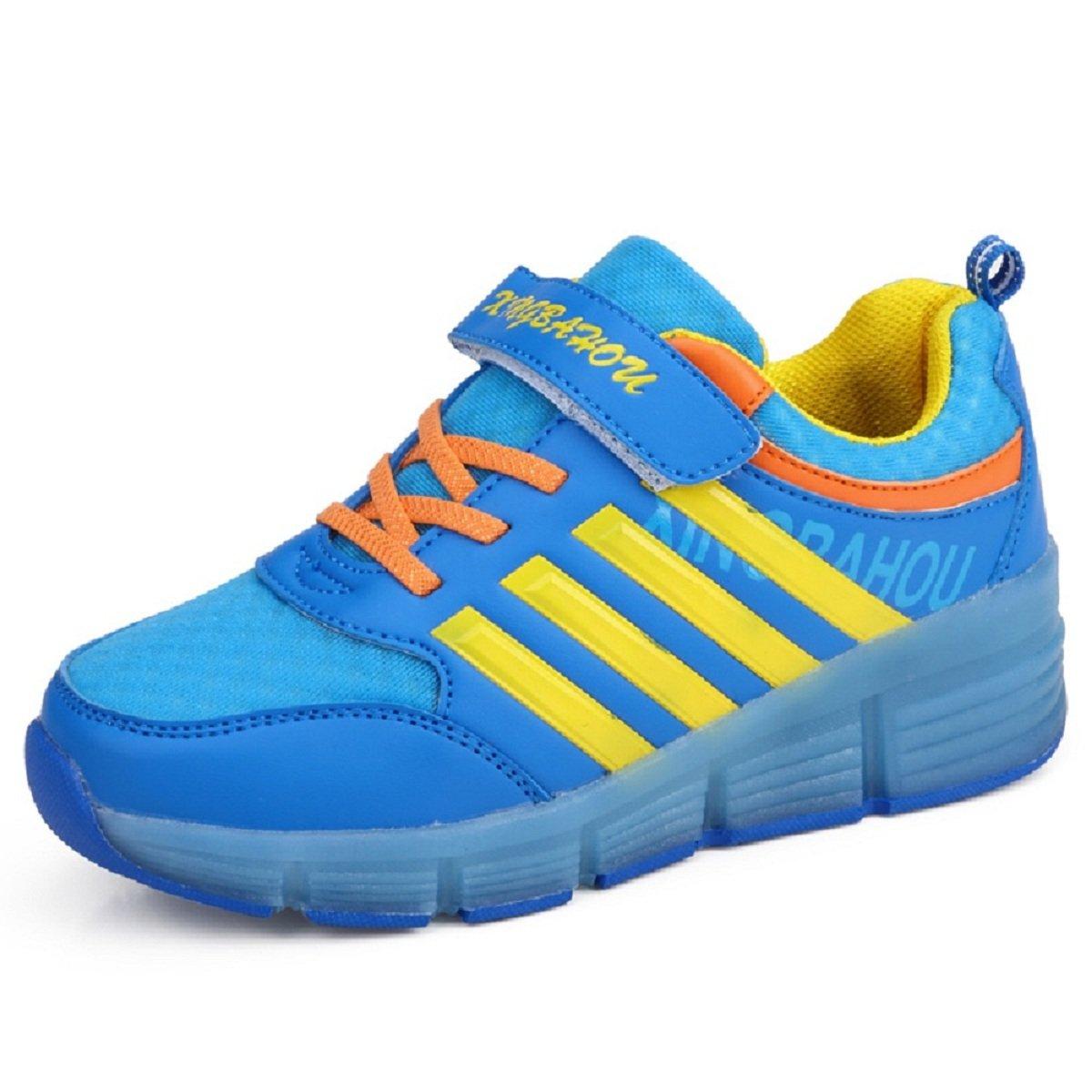 Chaussures à roulettes, Garçons Filles LED Chaussures à Skates, Sneakers 29 29 Sneakers EU Bleu 1908b7