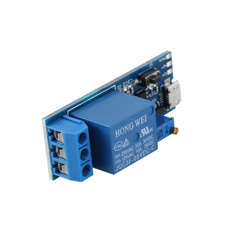 TOOGOO(R) Wide voltage 5V-30V trigger delay relay module, timer module, time delay switch by TOOGOO(R) (Image #6)