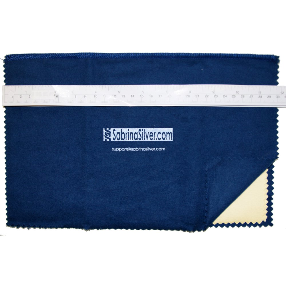 Polishing Cloth for Silver, Gold, Brass & Most Other Metals, 12x15 Largest Size